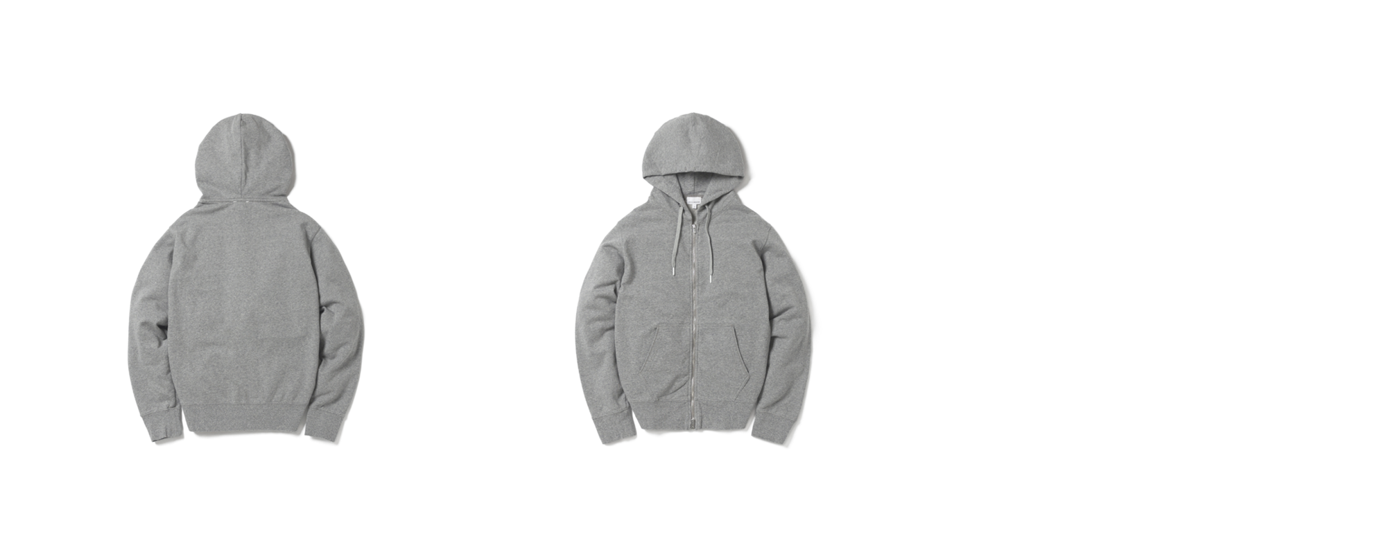 Light Zip Up Hoodie Grey