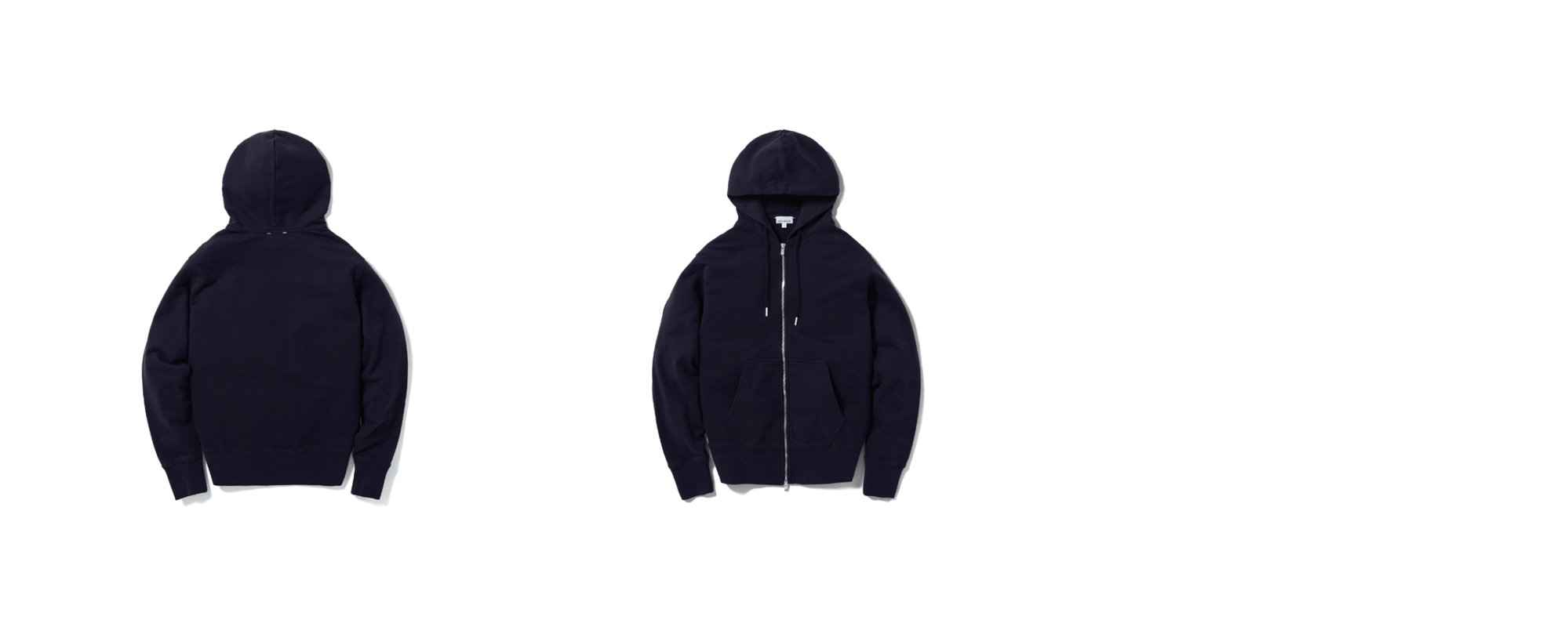 Light Zip Up Hoodie Navy
