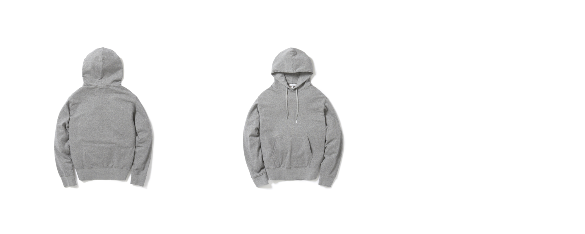 Mid-terry Pullover hoodie  Grey