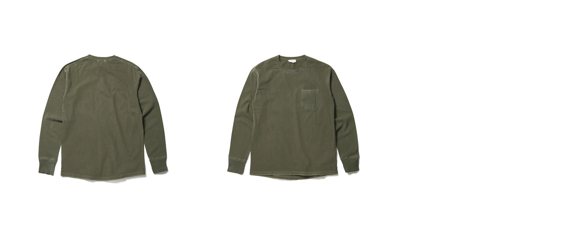 Light Pocket Long Sleeve Tee Olive