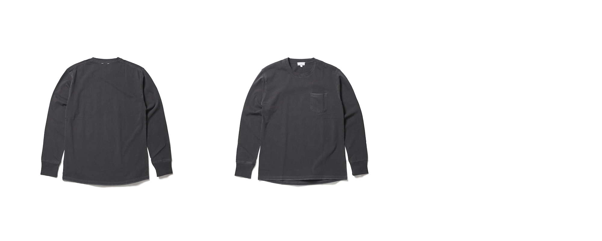 Light Pocket Long Sleeve Tee  Charcoal