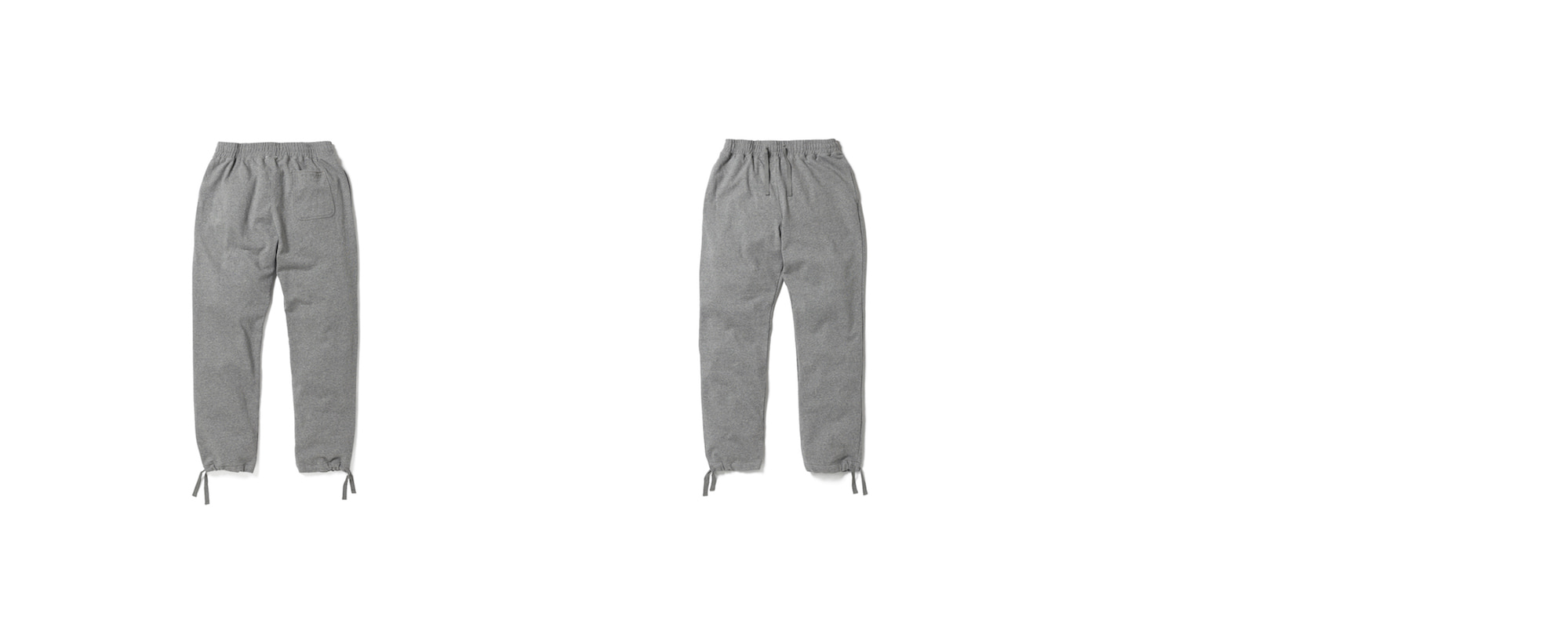 Mid-terry String Long pants  Grey