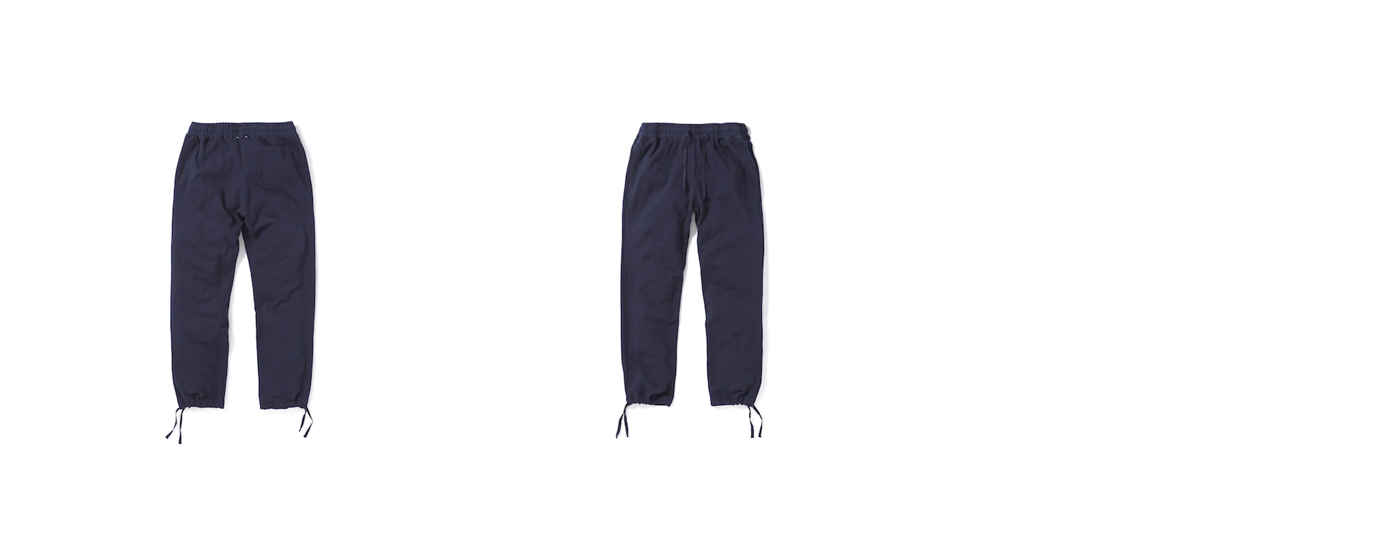 Mid-terry String Long pants  Navy