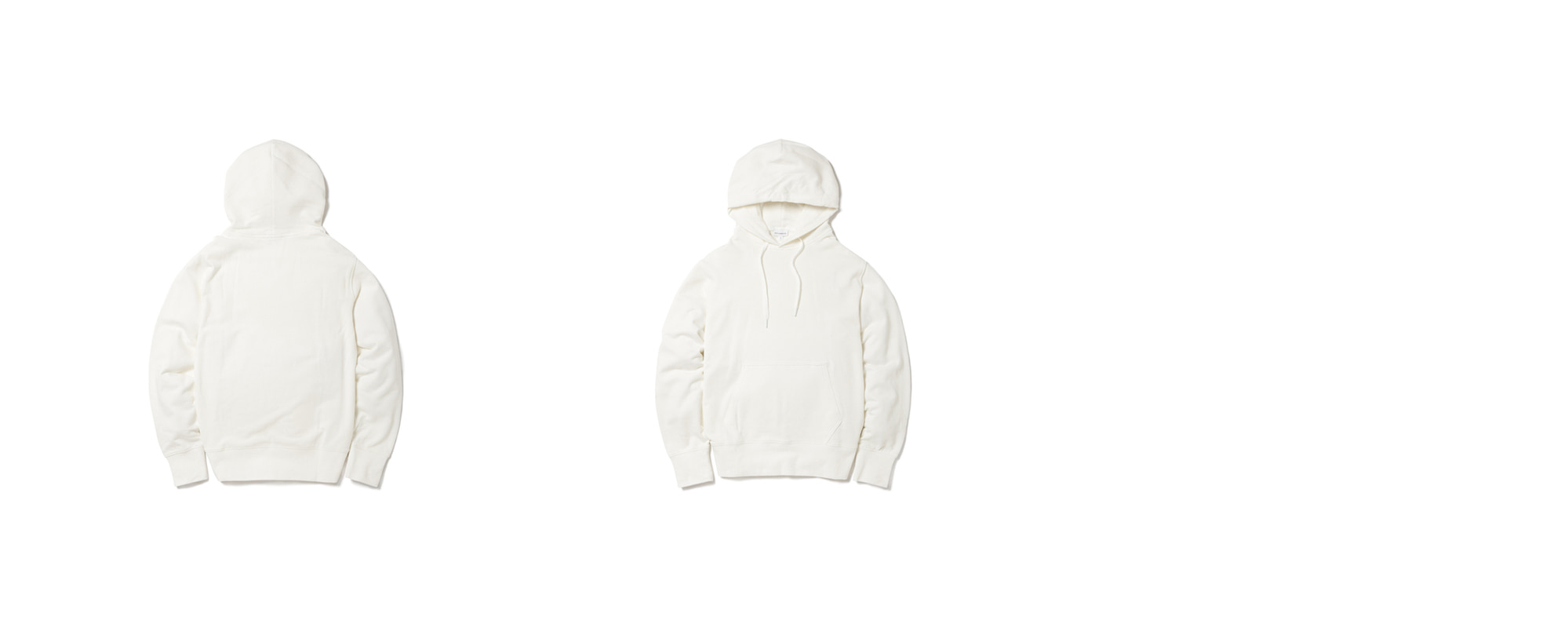 Light Pullover Hoodie Ivory