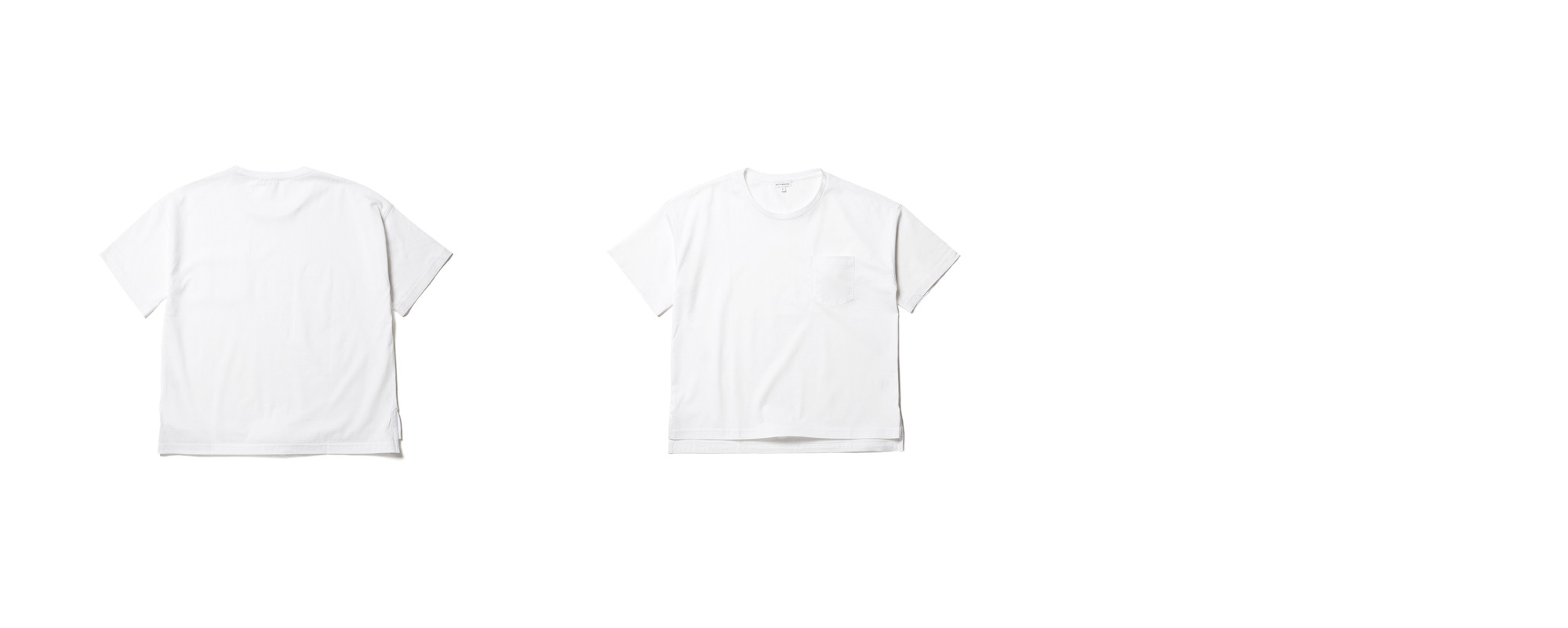 [Women]  Light Pocket Tee  White