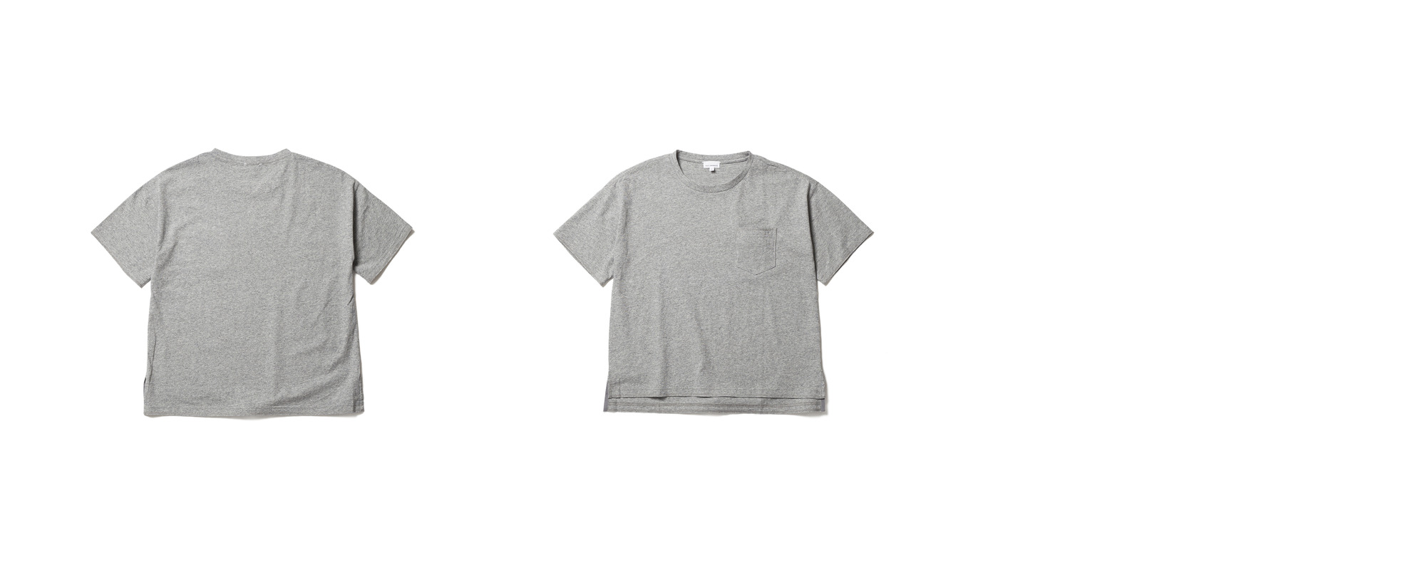 Light Pocket Tee  Grey