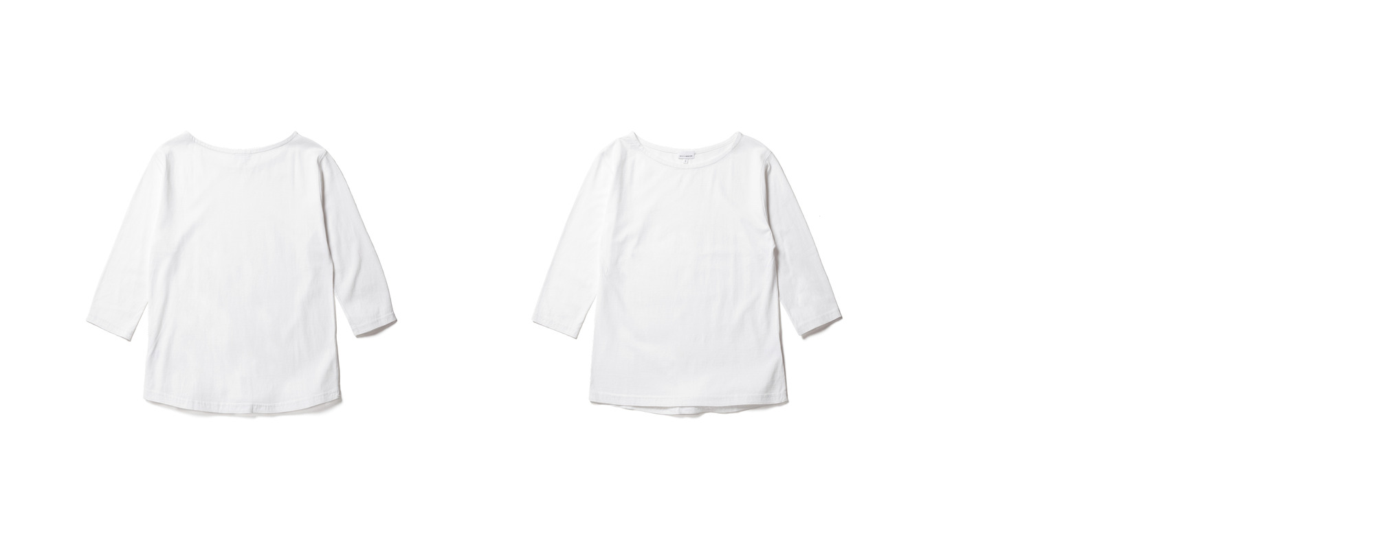 [Women] Light Boat Neck  White