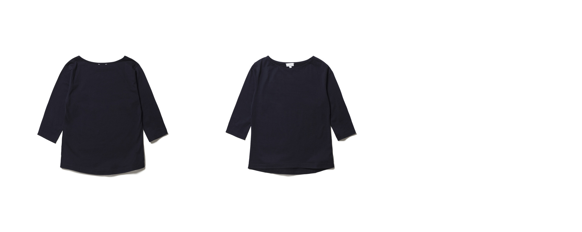 [Women] Light Boat Neck  Navy