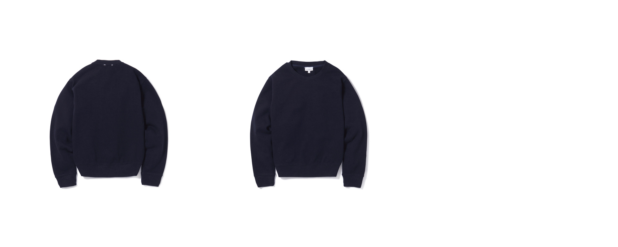 [Women] Double Pique Sweatshirt  Navy
