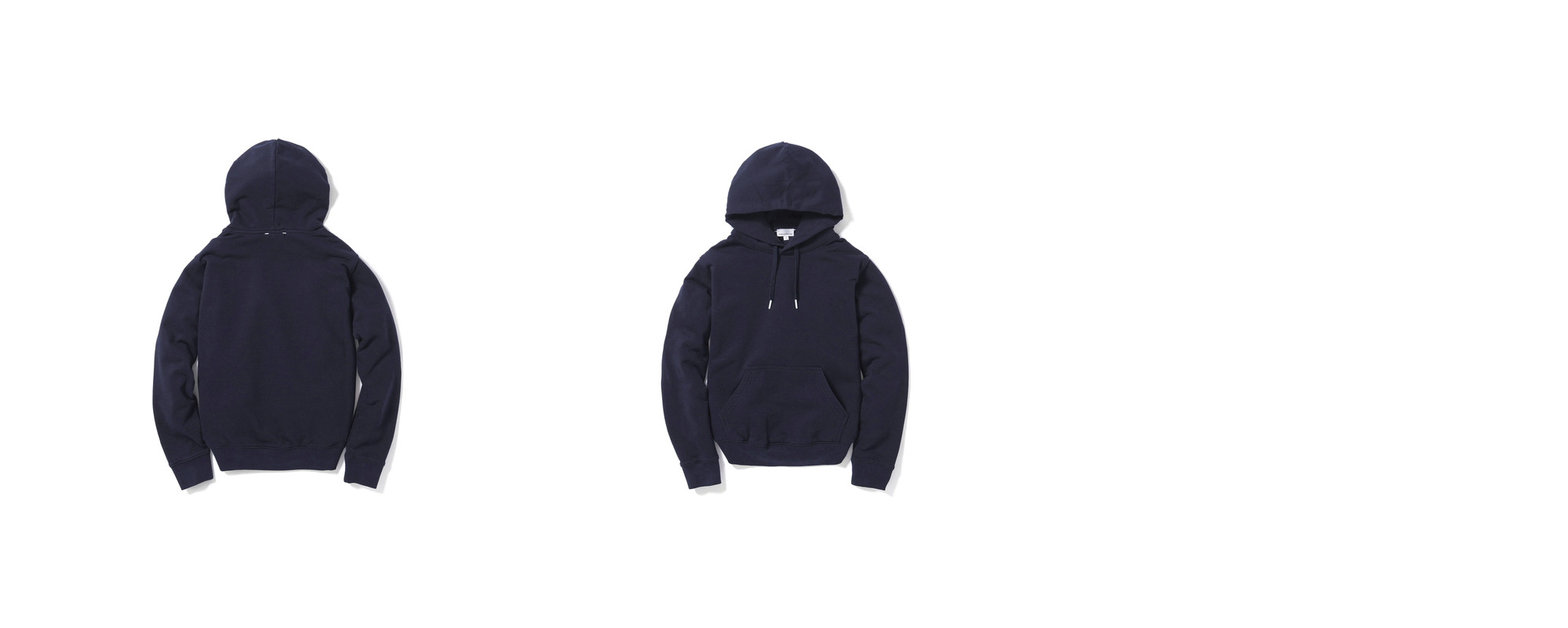 Mid-terry Pullover hoodie  Navy