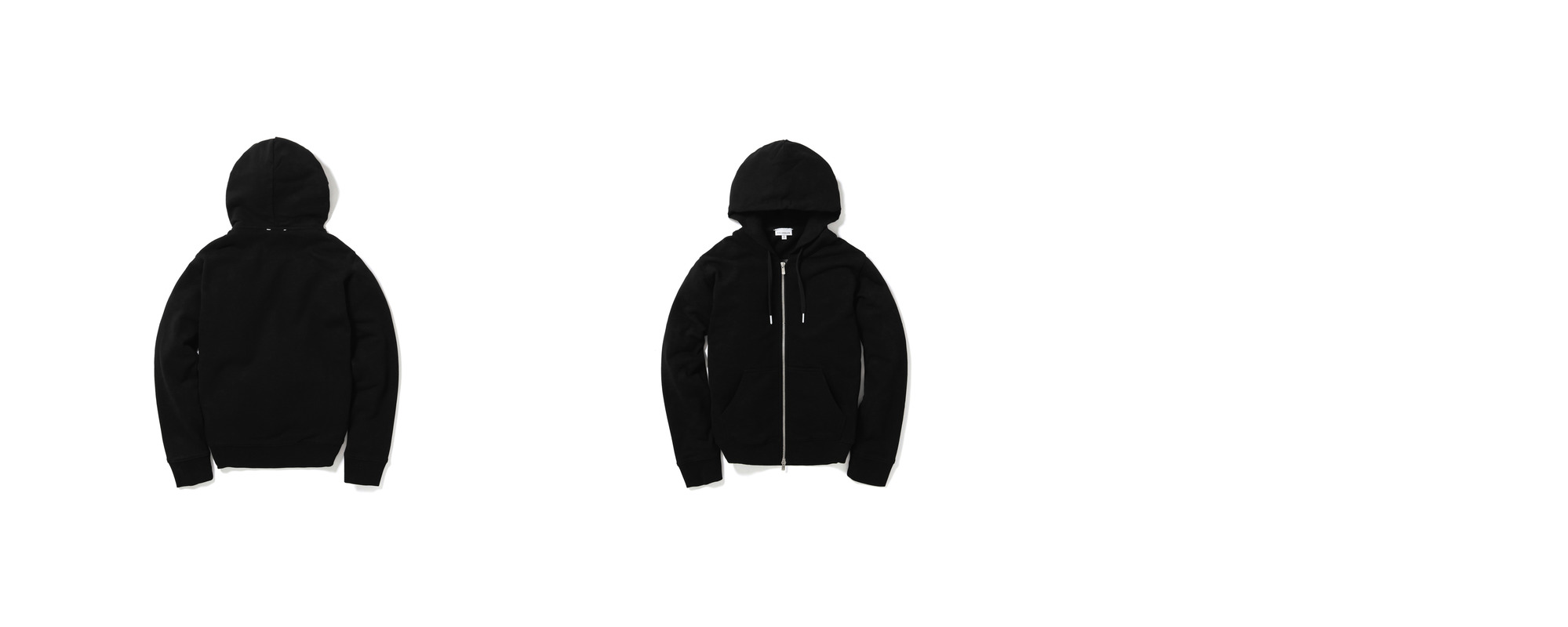 [Women] Mid-terry Zip Up hoodie  Black
